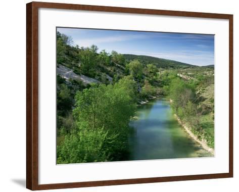 River Herault, Near St. Guilhem Le Desert, Languedoc-Roussillon, France-Michael Busselle-Framed Art Print