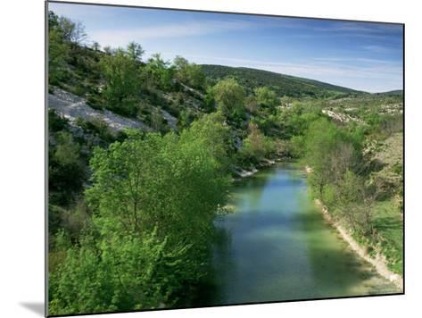 River Herault, Near St. Guilhem Le Desert, Languedoc-Roussillon, France-Michael Busselle-Mounted Photographic Print