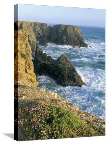 Pointe De Port Coton, Belle Ile En Mer, Breton Islands, Morbihan, Brittany, France-Bruno Barbier-Stretched Canvas Print