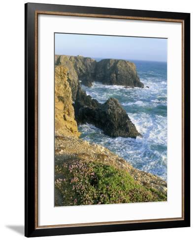 Pointe De Port Coton, Belle Ile En Mer, Breton Islands, Morbihan, Brittany, France-Bruno Barbier-Framed Art Print