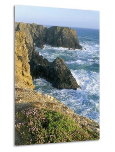 Pointe De Port Coton, Belle Ile En Mer, Breton Islands, Morbihan, Brittany, France-Bruno Barbier-Metal Print