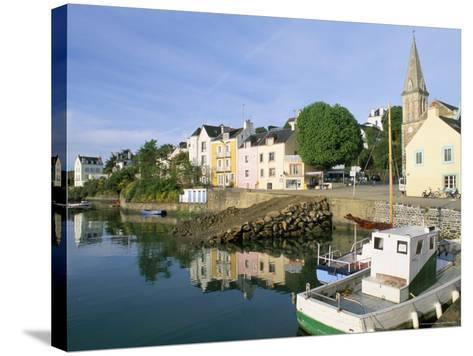 Port Sauzon, Belle Ile En Mer, Breton Islands, Morbihan, Brittany, France-Bruno Barbier-Stretched Canvas Print