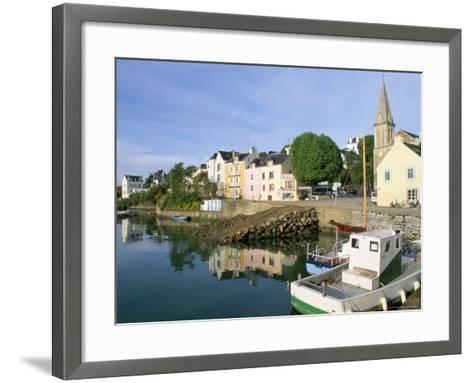 Port Sauzon, Belle Ile En Mer, Breton Islands, Morbihan, Brittany, France-Bruno Barbier-Framed Art Print
