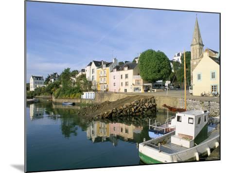 Port Sauzon, Belle Ile En Mer, Breton Islands, Morbihan, Brittany, France-Bruno Barbier-Mounted Photographic Print