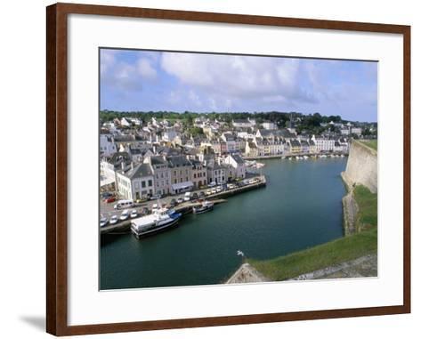 Le Palais, Belle Ile En Mer, Breton Islands, Morbihan, Brittany, France-Bruno Barbier-Framed Art Print