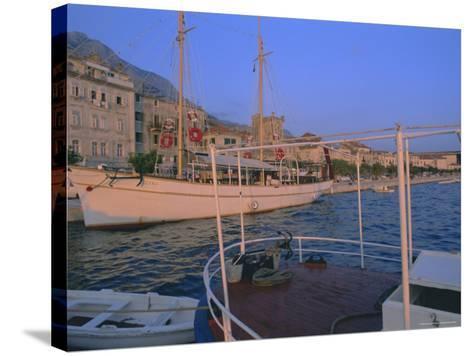 Port and Town of Makarska, Dalmatia, Dalmatian Coast, Adriatic, Croatia-Bruno Barbier-Stretched Canvas Print