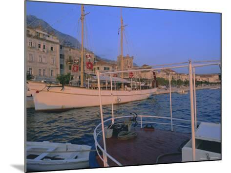 Port and Town of Makarska, Dalmatia, Dalmatian Coast, Adriatic, Croatia-Bruno Barbier-Mounted Photographic Print