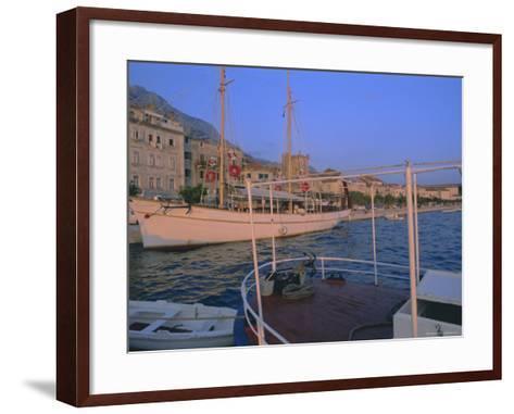 Port and Town of Makarska, Dalmatia, Dalmatian Coast, Adriatic, Croatia-Bruno Barbier-Framed Art Print