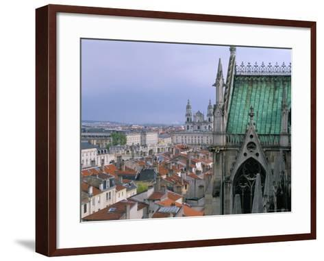 View from Terrace of St. Epvre Basilica, of Place Stanislas and Old Town, Nancy, Lorraine-Bruno Barbier-Framed Art Print