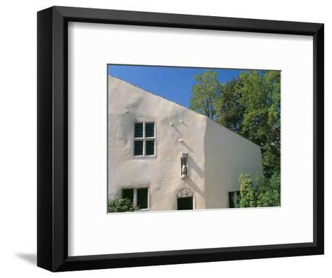 House Where Jeanne d'Arc, was Born, Village of Domremy-La-Pucelle, Vosges, Lorraine, France-Bruno Barbier-Framed Art Print