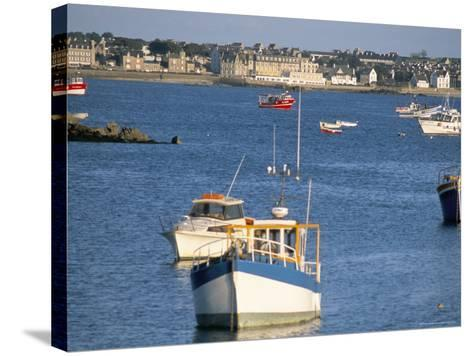 Town of Roscoff, Finistere, Brittany, France-Bruno Barbier-Stretched Canvas Print