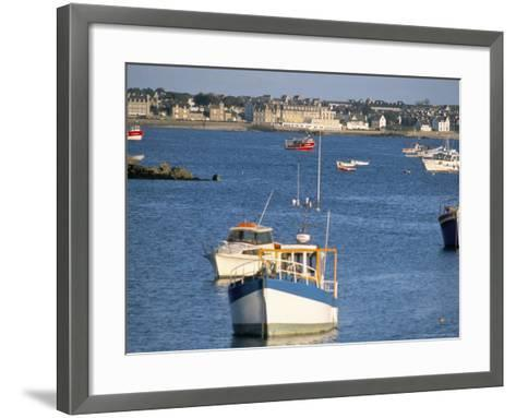 Town of Roscoff, Finistere, Brittany, France-Bruno Barbier-Framed Art Print