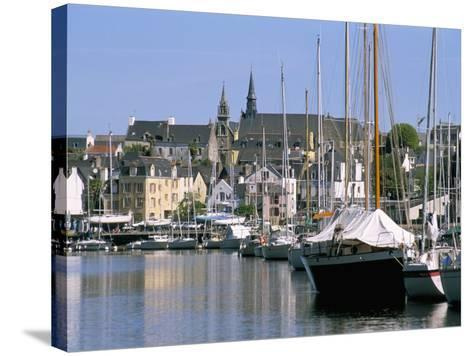 Port and Quarter of Saint Goustan, Town of Auray, Gulf of Morbihan, Brittany, France-Bruno Barbier-Stretched Canvas Print