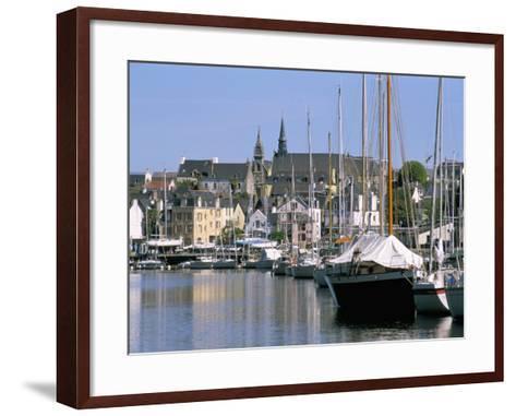 Port and Quarter of Saint Goustan, Town of Auray, Gulf of Morbihan, Brittany, France-Bruno Barbier-Framed Art Print