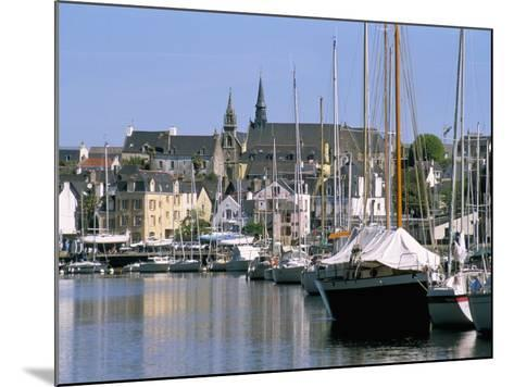 Port and Quarter of Saint Goustan, Town of Auray, Gulf of Morbihan, Brittany, France-Bruno Barbier-Mounted Photographic Print