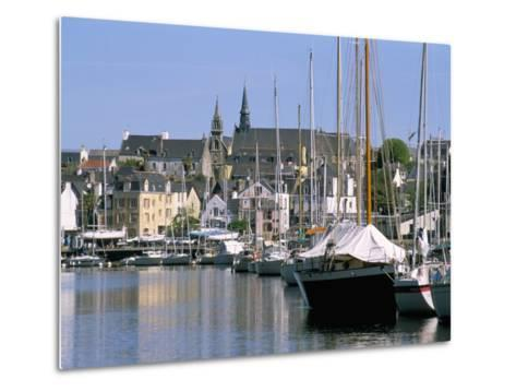 Port and Quarter of Saint Goustan, Town of Auray, Gulf of Morbihan, Brittany, France-Bruno Barbier-Metal Print