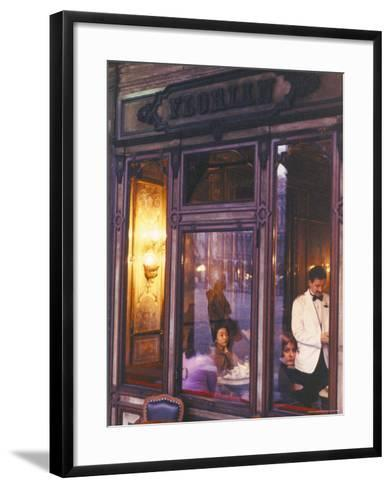 Cafe Florian, St. Mark's Square, Venice, Veneto, Italy-Bruno Barbier-Framed Art Print