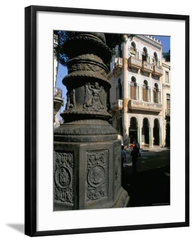 Paseo De Marti, Colonial Quarter of Prado, Havana, Cuba, West Indies, Central America-Bruno Barbier-Framed Art Print