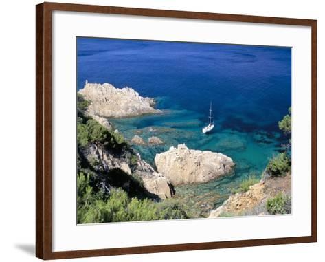 Corniche of Cap Camarat, Close to the Isle of Saint Tropez, Var, Provence-Bruno Barbier-Framed Art Print