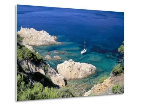 Corniche of Cap Camarat, Close to the Isle of Saint Tropez, Var, Provence-Bruno Barbier-Metal Print