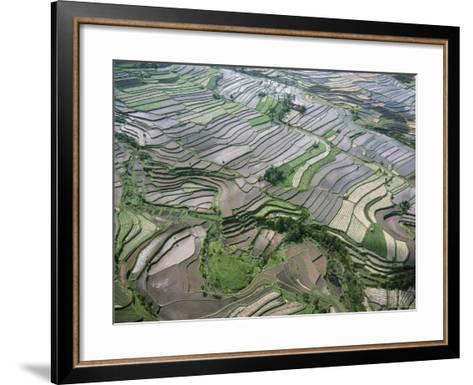 Aerial View of the Eastern Region of the Island of Bali, Indonesia, Southeast Asia-Bruno Barbier-Framed Art Print