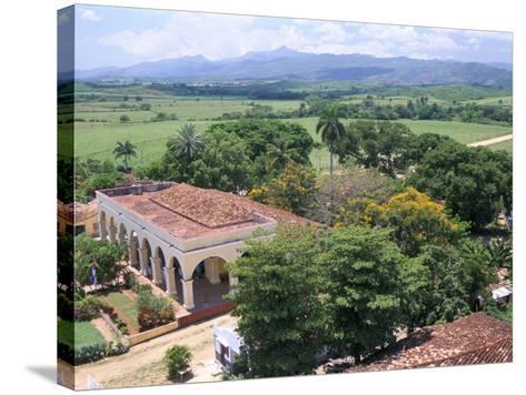 Plantation House on the Guainamaro Sugar Plantation, Valley De Los Ingenios, Cuba-Bruno Barbier-Stretched Canvas Print