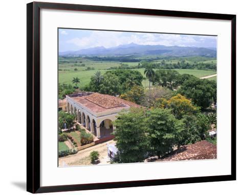 Plantation House on the Guainamaro Sugar Plantation, Valley De Los Ingenios, Cuba-Bruno Barbier-Framed Art Print