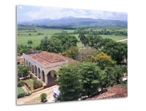 Plantation House on the Guainamaro Sugar Plantation, Valley De Los Ingenios, Cuba-Bruno Barbier-Metal Print