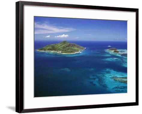 Ile Sainte Anne (St. Anne Island) in Blue Sea, Northeast Coast, Island of Mahe, Indian Ocean-Bruno Barbier-Framed Art Print