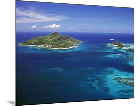 Ile Sainte Anne (St. Anne Island) in Blue Sea, Northeast Coast, Island of Mahe, Indian Ocean-Bruno Barbier-Mounted Photographic Print
