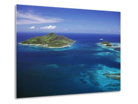 Ile Sainte Anne (St. Anne Island) in Blue Sea, Northeast Coast, Island of Mahe, Indian Ocean-Bruno Barbier-Metal Print