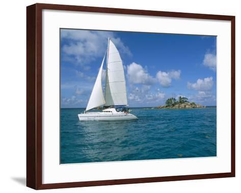 Catamaran, Island of Praslin, Seychelles, Indian Ocean, Africa-Bruno Barbier-Framed Art Print