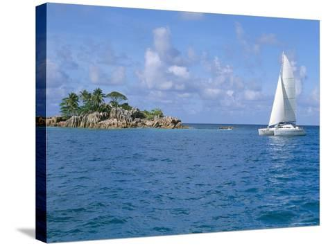 Catamaran, Island of Praslin, Seychelles, Indian Ocean, Africa-Bruno Barbier-Stretched Canvas Print