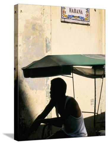 Street in the Old Colonial Town, Havana, Cuba, West Indies, Central America-Bruno Barbier-Stretched Canvas Print