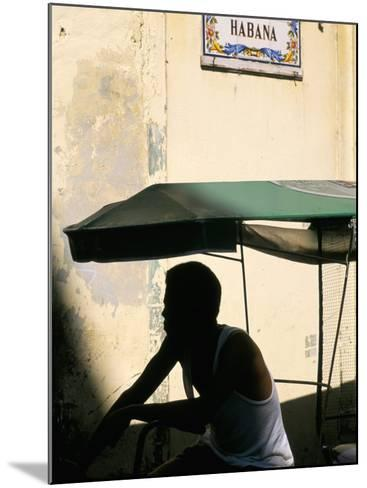 Street in the Old Colonial Town, Havana, Cuba, West Indies, Central America-Bruno Barbier-Mounted Photographic Print