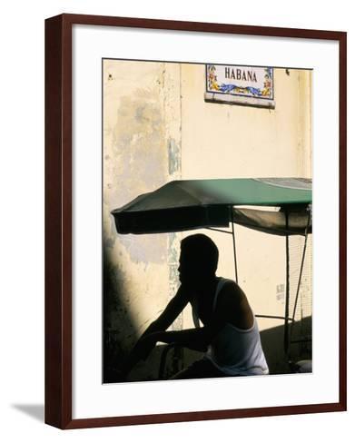 Street in the Old Colonial Town, Havana, Cuba, West Indies, Central America-Bruno Barbier-Framed Art Print