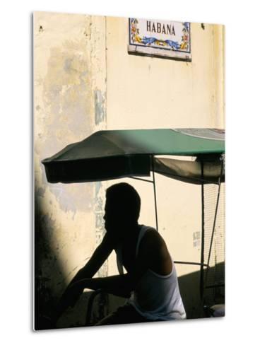Street in the Old Colonial Town, Havana, Cuba, West Indies, Central America-Bruno Barbier-Metal Print