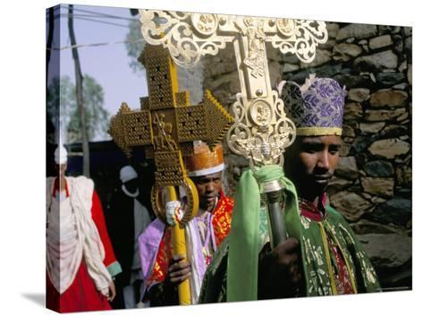 Palm Sunday Procession, Axoum (Axum) (Aksum), Tigre Region, Ethiopia, Africa-Bruno Barbier-Stretched Canvas Print