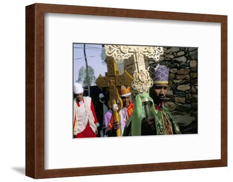 Palm Sunday Procession, Axoum (Axum) (Aksum), Tigre Region, Ethiopia, Africa-Bruno Barbier-Framed Art Print