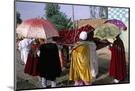 Palm Sunday Procession, Axoum (Axum) (Aksum), Tigre Region, Ethiopia, Africa-Bruno Barbier-Mounted Photographic Print