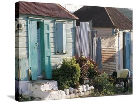 Houses in the Old Colonial Quarter, St. John's, Antigua, Leeward Islands-Bruno Barbier-Stretched Canvas Print