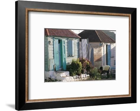 Houses in the Old Colonial Quarter, St. John's, Antigua, Leeward Islands-Bruno Barbier-Framed Art Print