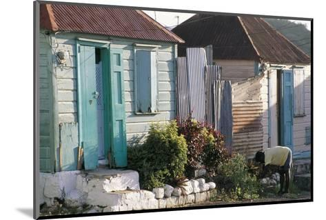 Houses in the Old Colonial Quarter, St. John's, Antigua, Leeward Islands-Bruno Barbier-Mounted Photographic Print