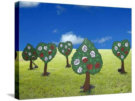 Paper Trees-Angelo Cavalli-Stretched Canvas Print