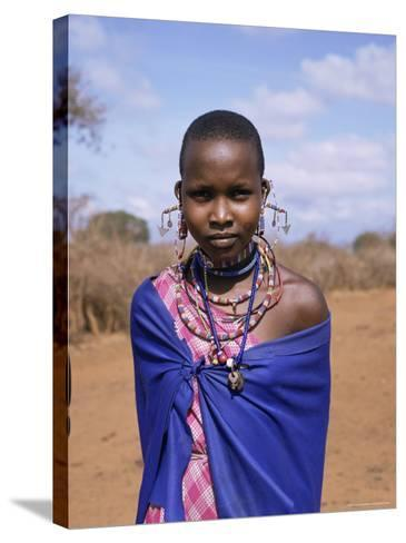 Masai Woman, Kenya, East Africa, Africa-Philip Craven-Stretched Canvas Print