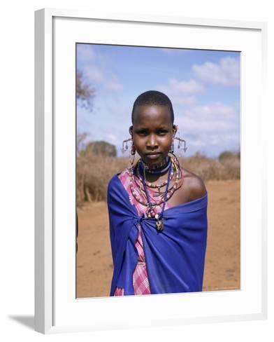 Masai Woman, Kenya, East Africa, Africa-Philip Craven-Framed Art Print