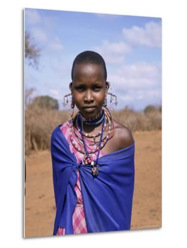 Masai Woman, Kenya, East Africa, Africa-Philip Craven-Metal Print