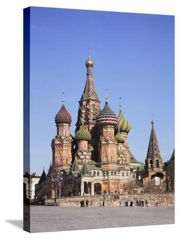 St. Basil's Cathedral, Red Square, Unesco World Heritage Site, Moscow, Russia-Philip Craven-Stretched Canvas Print