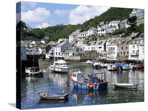 The Harbour, Polperro, Cornwall, England, United Kingdom-Rob Cousins-Stretched Canvas Print