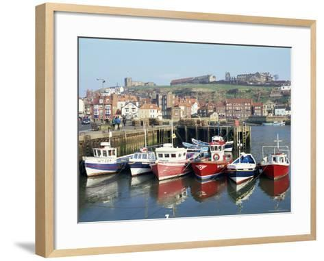 Whitby Harbour, Yorkshire, England, United Kingdom-Rob Cousins-Framed Art Print